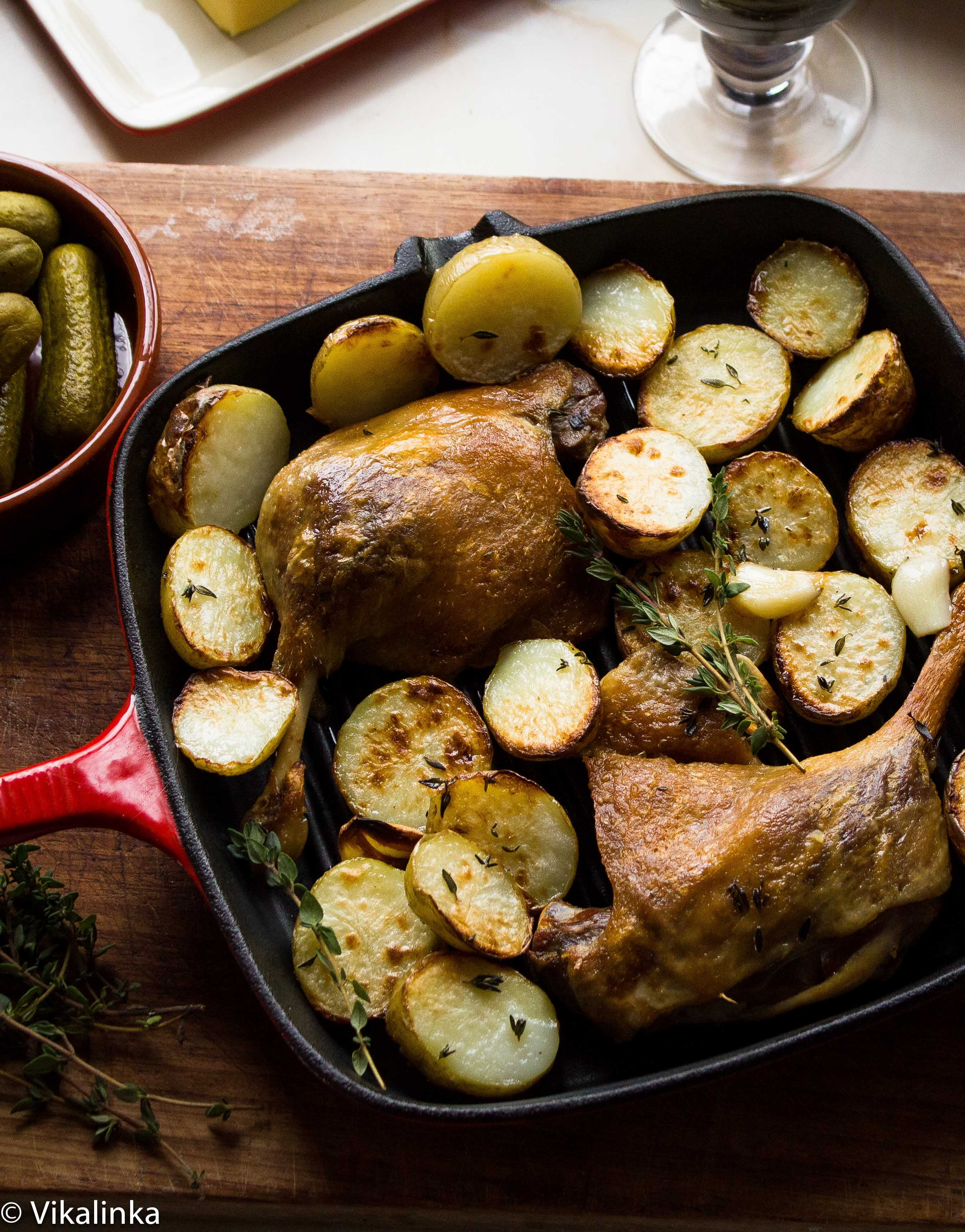 Duck Confit with Roasted Potatoes