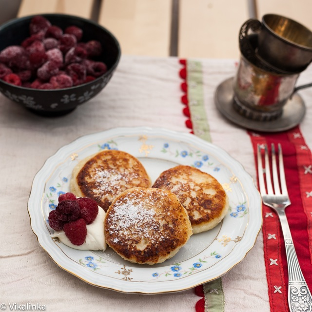 Syrniki-Russian Sweet Cheese Fritters