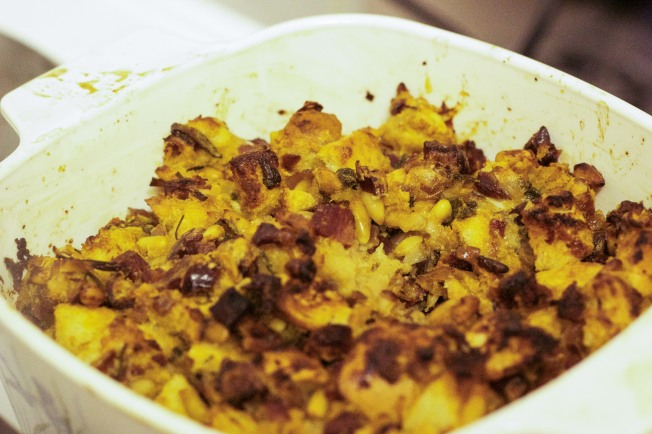 cooked stuffing