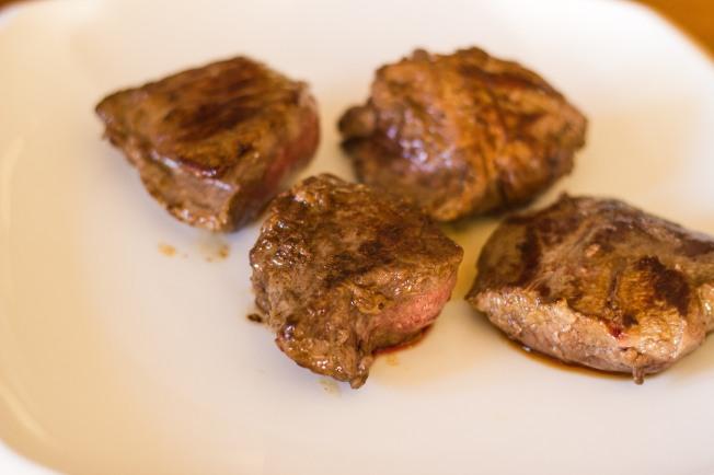 steaks browned