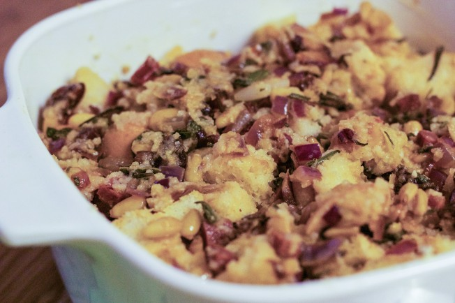 Unbaked stuffing