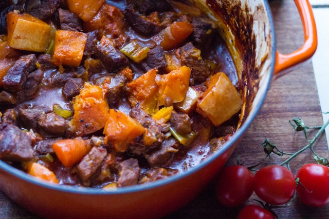 Reindeer and Butternut Squash Winter Stew