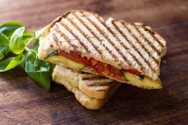 Grilled Gouda and Zucchini Panini