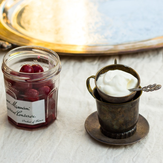 Cherry Compote and Sour Cream