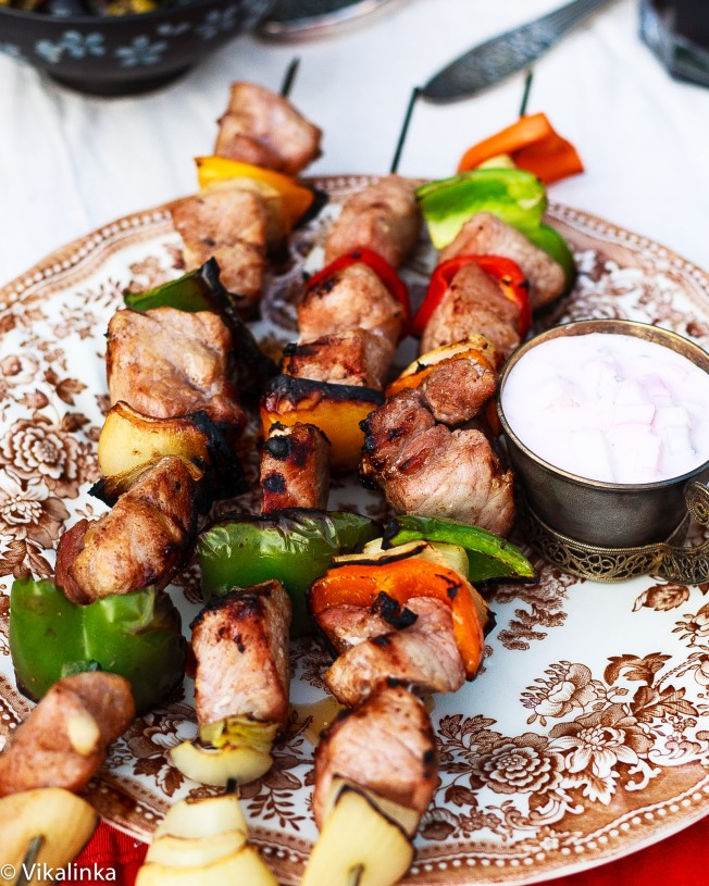 "Russian skewered meat ""Shashlik"""