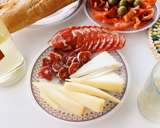 Spanish cured meats and cheeses