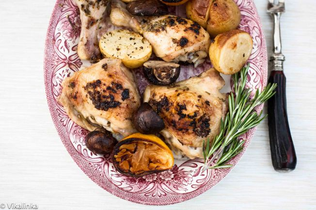 Rosemary Lemon Chicken and Potatoes
