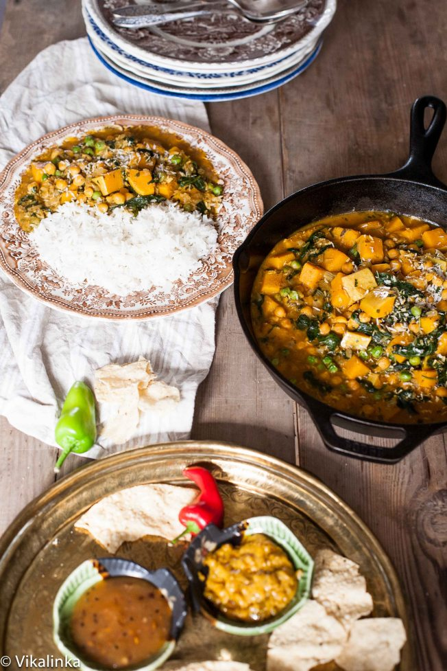 Chickpea and Butternut Squash Curry