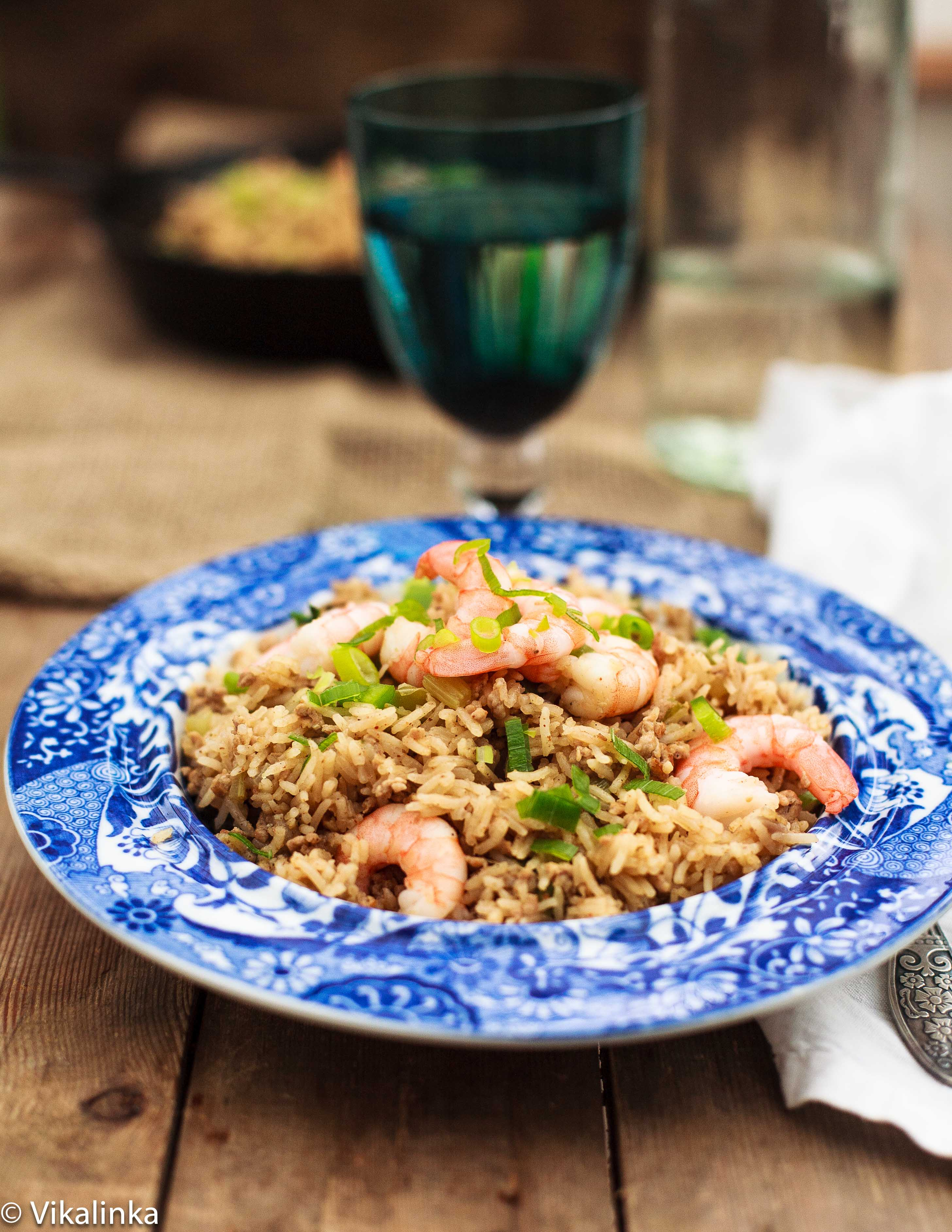 Cajun Dirty Rice with Shrimp