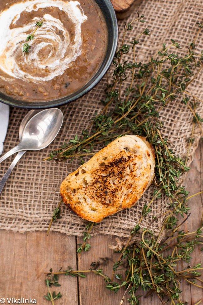 Chestnut Coquina Squash with Porcini Mushrooms