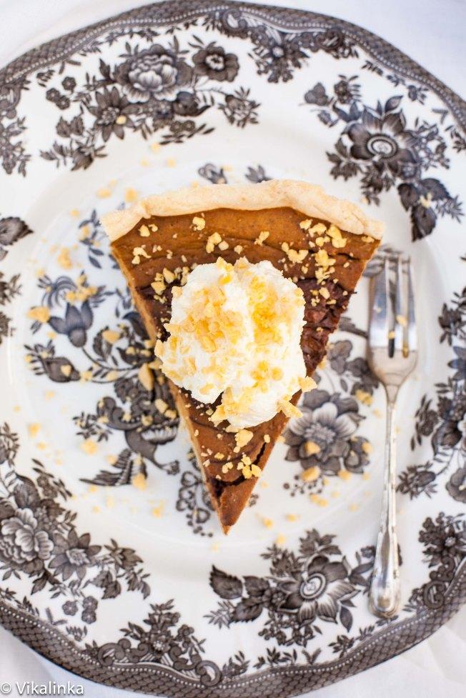 Pumpkin Pie with Toblerone Swirls